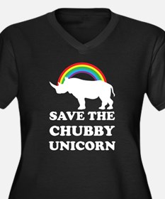 Chubby Unicorn Plus Size T-Shirt