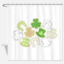 Irish Symbols Shower Curtain
