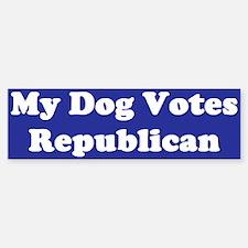 Dog Votes Repub Blue Bumper Bumper Bumper Sticker