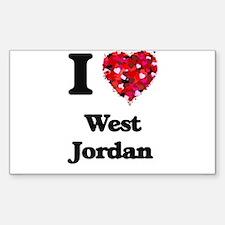 I love West Jordan Utah Decal