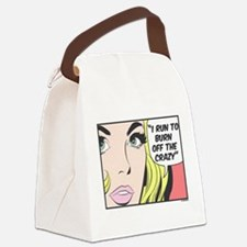 Run to Burn Off the Crazy Canvas Lunch Bag