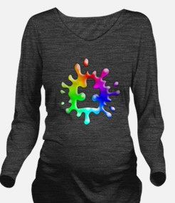 Splat Autism Long Sleeve Maternity T-Shirt