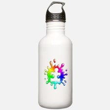 Splat Autism Sports Water Bottle