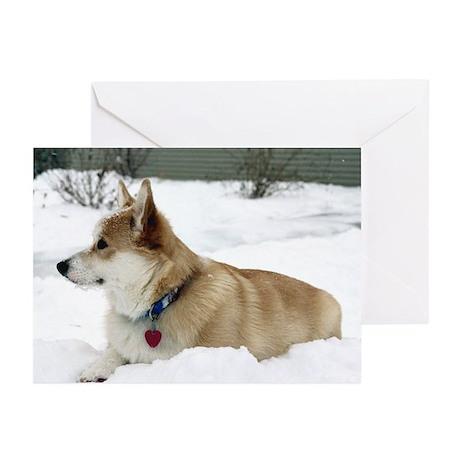 Snow Corgi Greeting Cards (Pk of 10)
