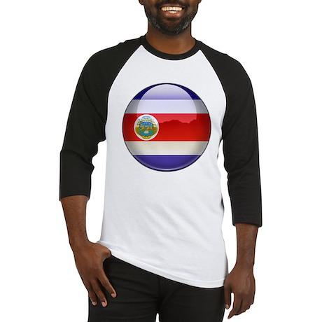 Costa Rica Flag Jewel Baseball Jersey