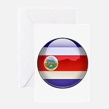 Costa Rica Flag Jewel Greeting Card