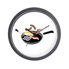 Breakfast Food Wall Clock
