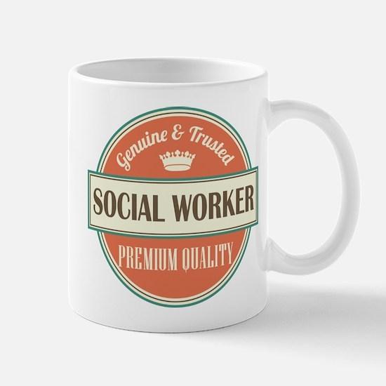 social worker vintage logo Mug