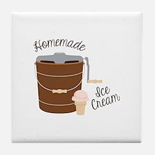 Homemade Ice Cream Tile Coaster