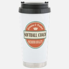 softball coach vintage Stainless Steel Travel Mug
