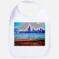 Chicago in Brilliant Fiber Art Bib