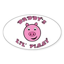 Lil' Piggy Oval Decal