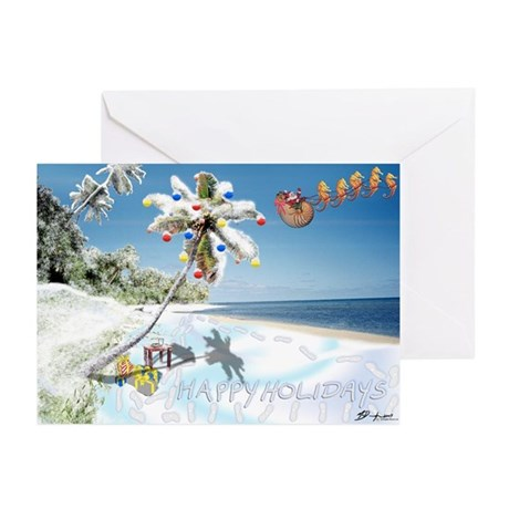 Tropical Snow Greeting Cards (Pk of 10) {HH}