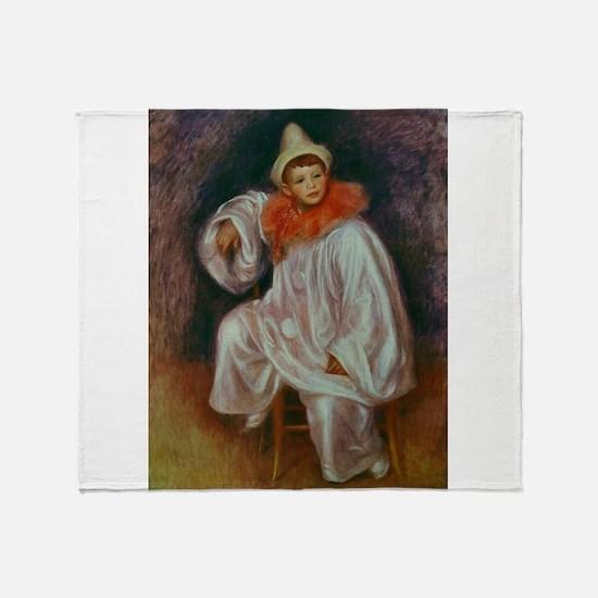 Renoir circus art Throw Blanket