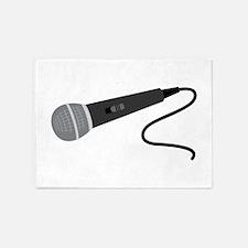 Microphone 5'x7'Area Rug