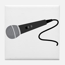 Microphone Tile Coaster