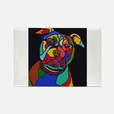 Psychedelic Pit Bull Dog Blackie Magnets