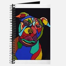 Psychedelic Pit Bull Dog Blackie Journal