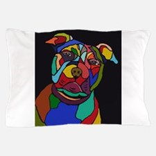 Psychedelic Pit Bull Dog Blackie Pillow Case