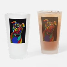 Psychedelic Pit Bull Dog Blackie Drinking Glass