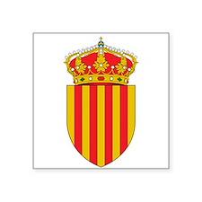 """Cute Catalunya Square Sticker 3"""" x 3"""""""