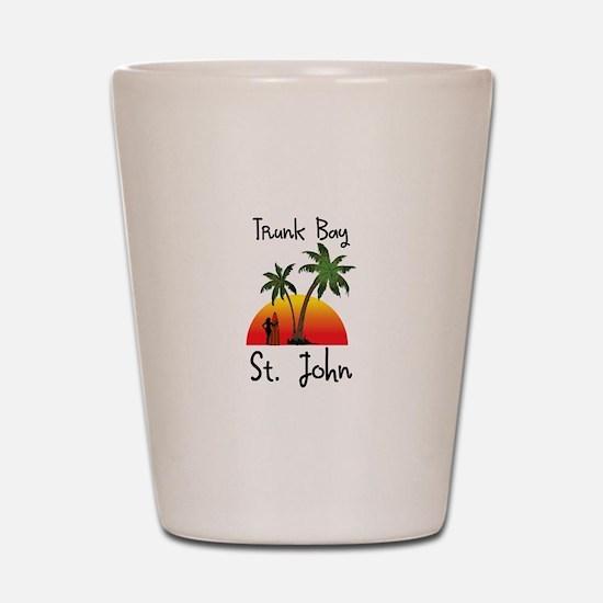 Trunk Bay St. John Shot Glass