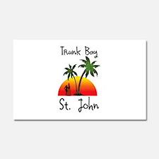 Trunk Bay St. John Car Magnet 20 x 12