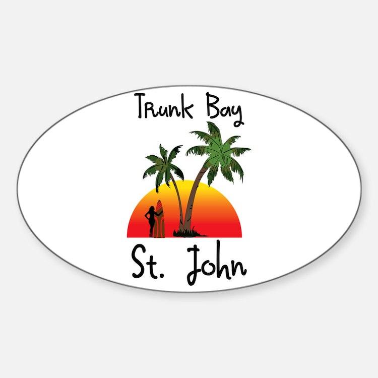 Trunk Bay St. John Decal