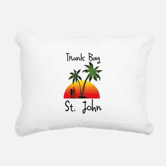 Trunk Bay St. John Rectangular Canvas Pillow