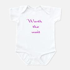 Infant Bodysuit-Worth the Wait Pink