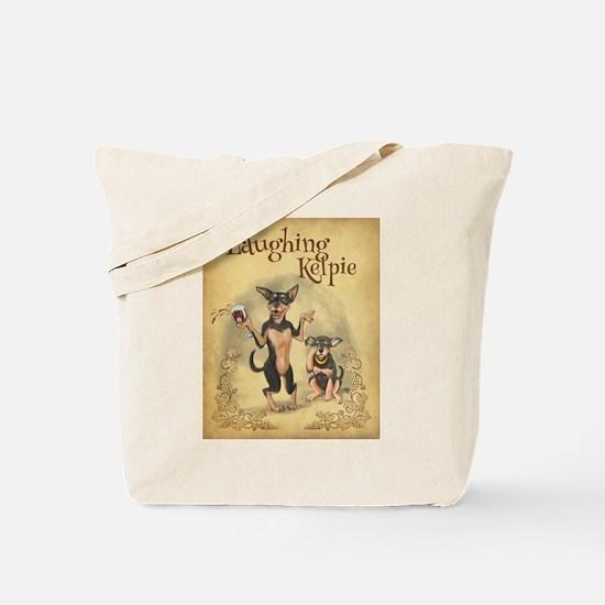 Lauging Kelpie Tote Bag