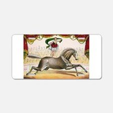 circus art Aluminum License Plate
