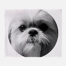 Shih Tzu Photo Throw Blanket