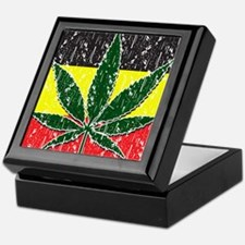 Rasta Pot Leave Flag Keepsake Box
