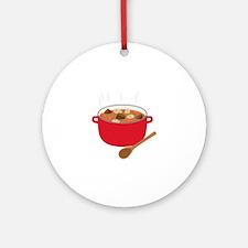 Stew Pot Round Ornament