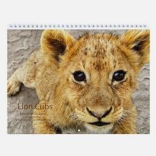 Lion Cubs Wall Calendar