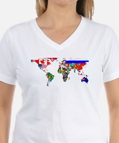 World Map With Flags T-Shirt