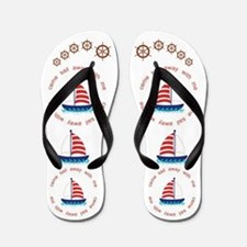 Come Sail Away With Me Flip Flops