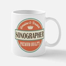 sonographer vintage logo Small Small Mug