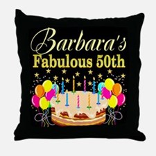FUN 50TH BIRTHDAY Throw Pillow