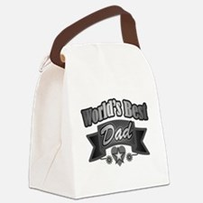 Cute Worlds greatest dad Canvas Lunch Bag