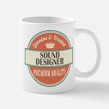 sound designer vintage logo Mug
