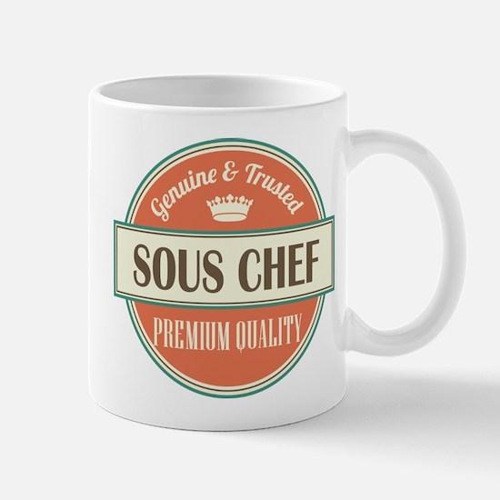 sous chef vintage logo Mug
