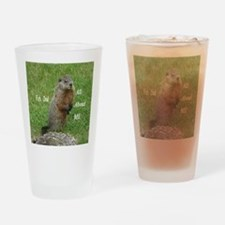 Groundhog Day Drinking Glass