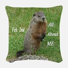 Groundhog Day Woven Throw Pillow