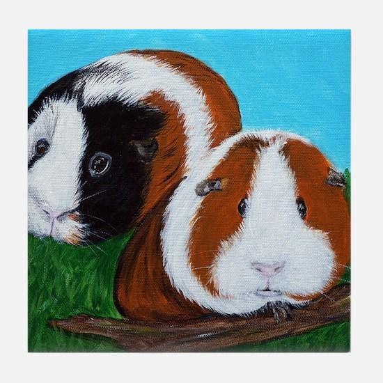Cute Guinea pigs Tile Coaster