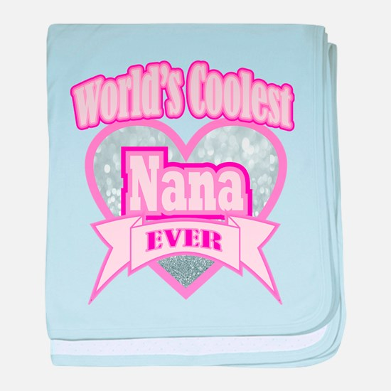 pink world's coolest nana baby blanket