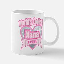 pink world's coolest nana Mugs