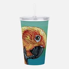 Sun Conure Parrot Acrylic Double-wall Tumbler