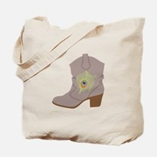 Feather Boot Tote Bag